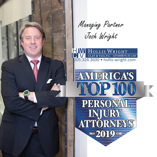 Josh Wright has been named among America's Top 100 Personal Injury Attorneys